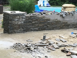 Stone Wall Masonry Project