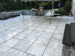 New Patio paving project - masonry