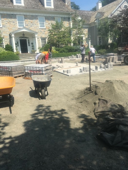 New Patio pavers - masonry