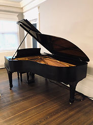 Steinway used for Traveling Cabaret even