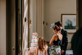Looking at Wedding Cake