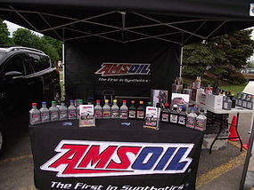 AMSOil tent product display