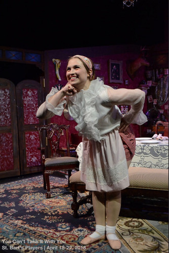 Savannah Lloyd as Essie in You Can't Take It With You at Hudson Guild / Credit: Bob Johnson