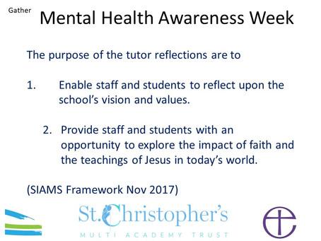 Reflection - Mental Health Awareness Week