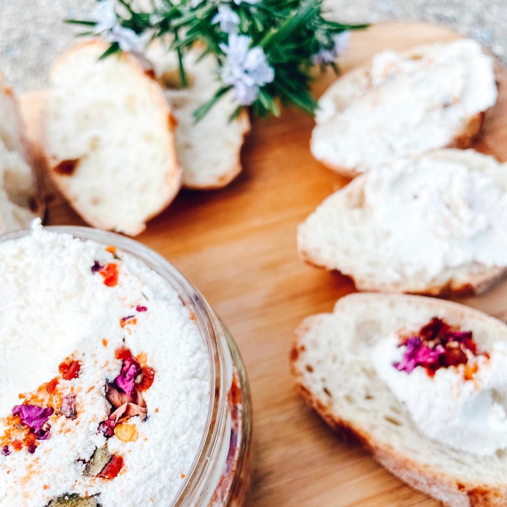 All the Things Rose Harissa Vegan Almond Curd