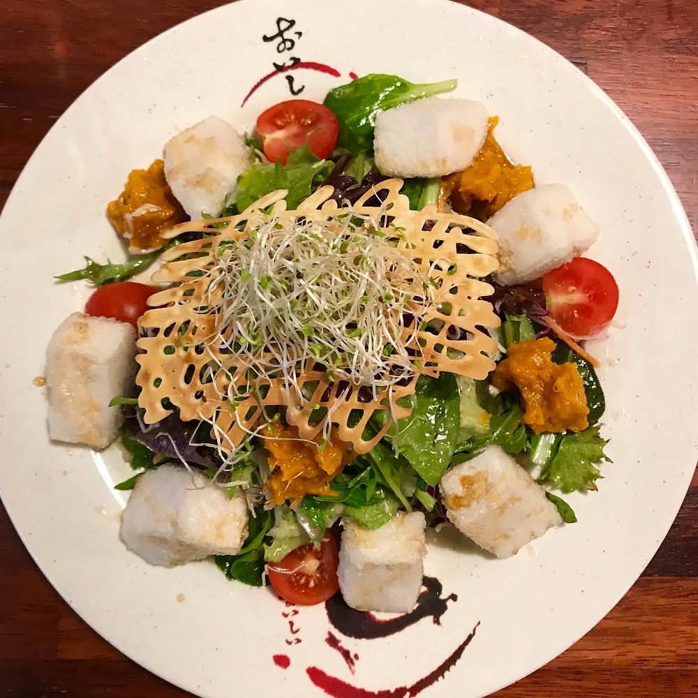 Crispy Silken Tofu Salad, Su Japanese Restaurant Gumdale