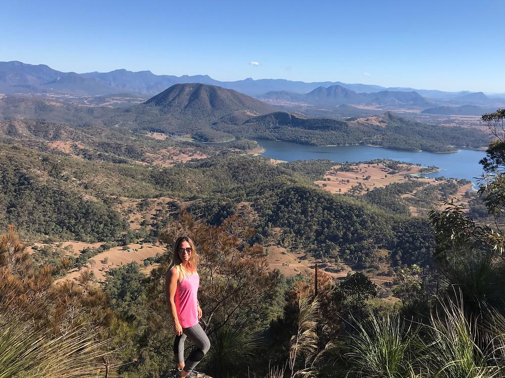 View of Lake Maroon, Hiking Mount May Scenic Rim