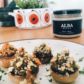 Recipe: Vegan Thyme & Truffle Cream Stuffed Mushrooms