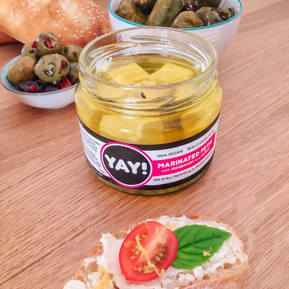 Yay Marinated Feta Vegan Plant Cheese Review Australia