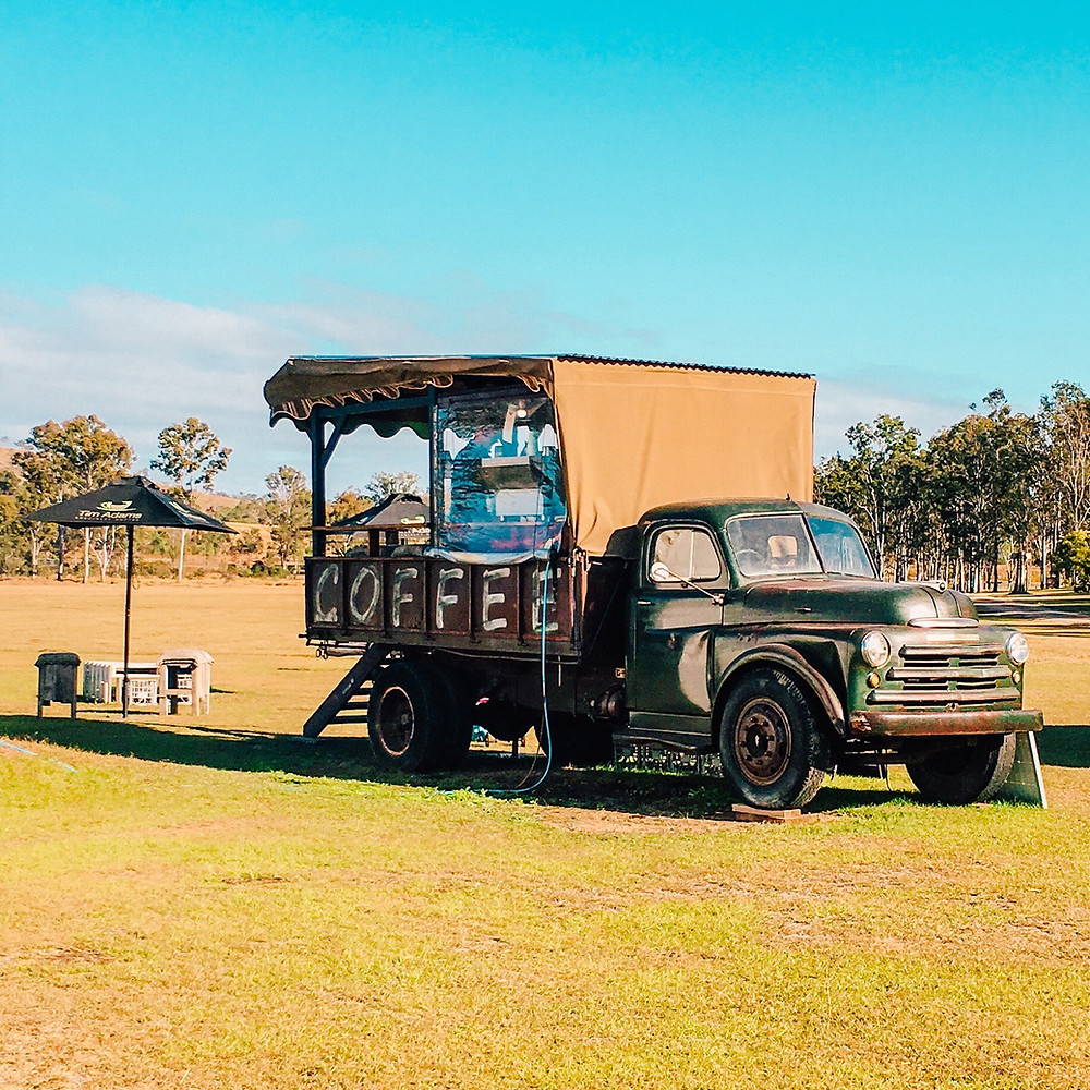 The Coffee Truck at Hangar O Glamping Campgrounds near Gympie