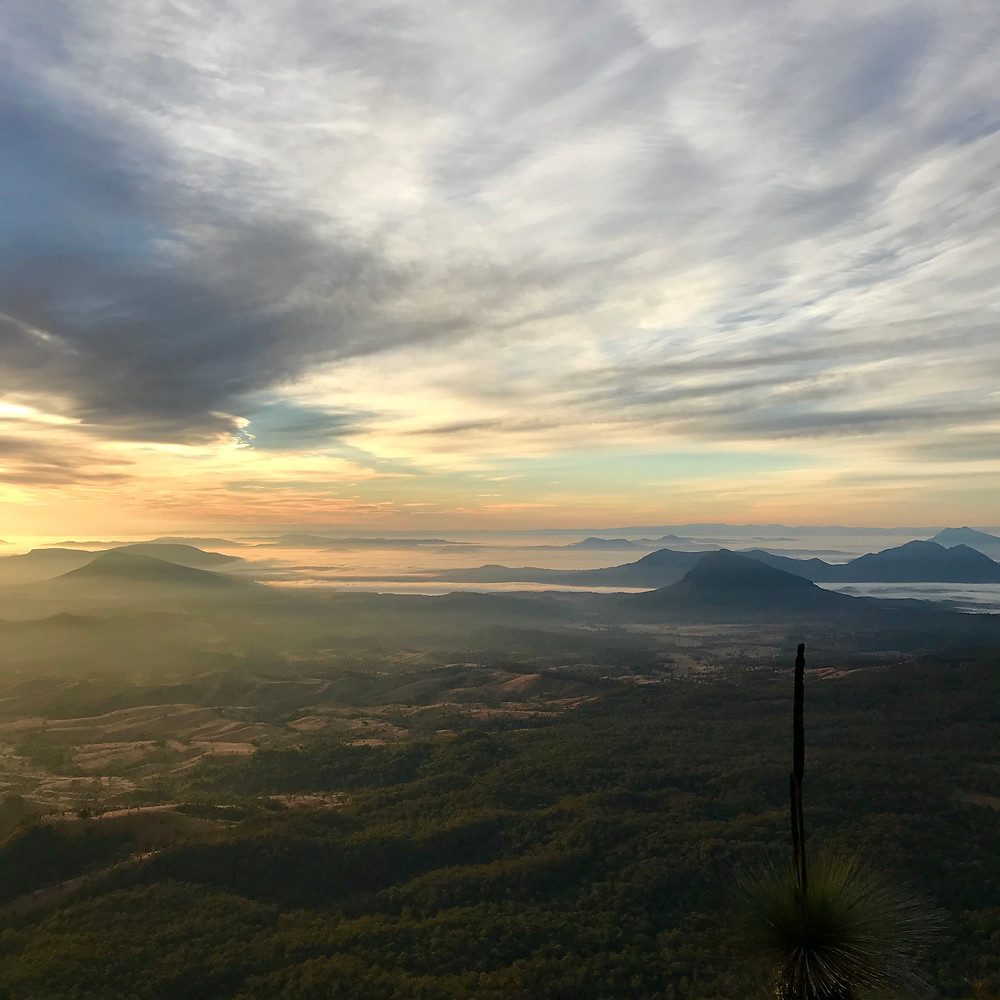 Hiking Mount Cordeaux and Bare Rock Scenic Rim Queensland