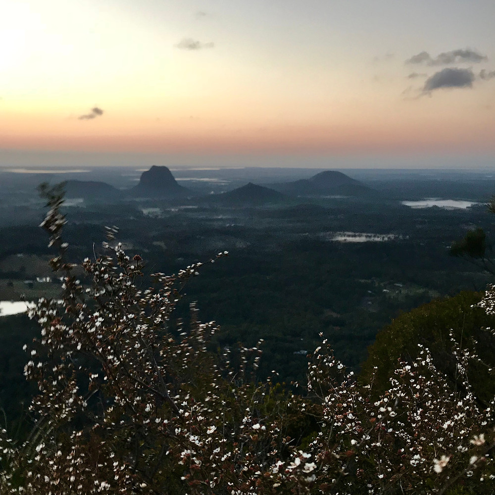 Mount Beerewah East Face Caves Route Hiking Trail Glasshouse Mountains