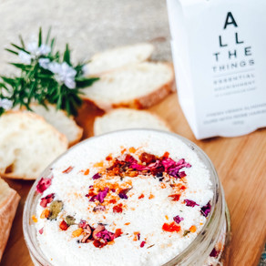 All the Things Almond Curd with Rose Harissa ~ Vegan Cheese Review Australia