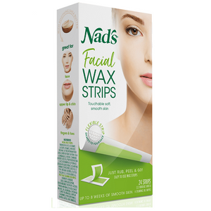 Nads Wax Strips - Vegan friendly and the perfect size for travel!
