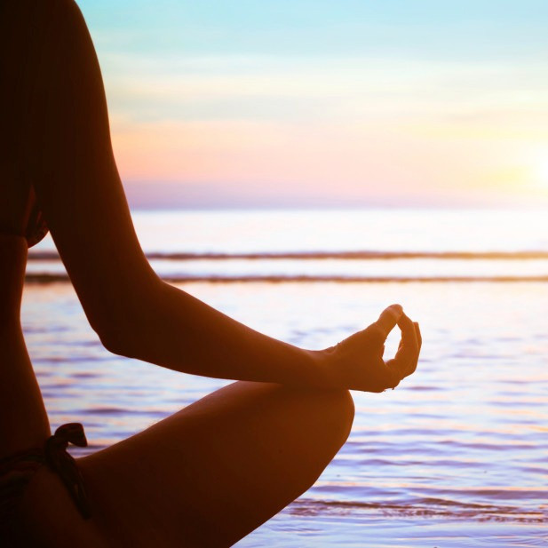 Morning Meditation by the Ocean