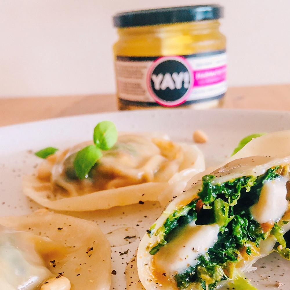 Yay Marinated Feta Dumplings - Vegan Plant based Cheese