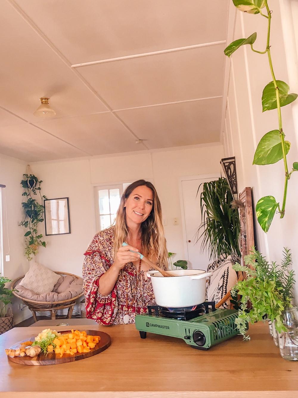 Vegan Vanlife Recipe: Immunity Boosting Pumpkin, Ginger & Turmeric Soup