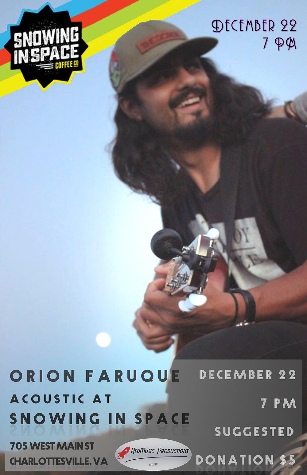 Orion Faruque acoustic at the Space Lab