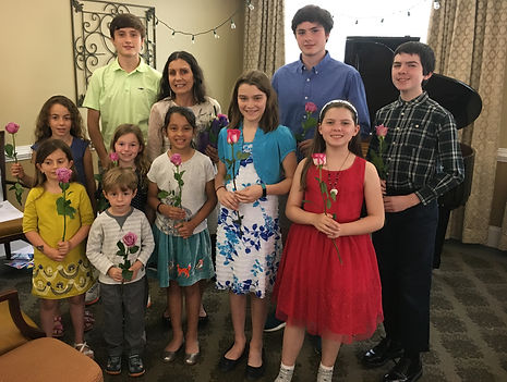 A few students from Music 123's Summer 2018 Piano Recital