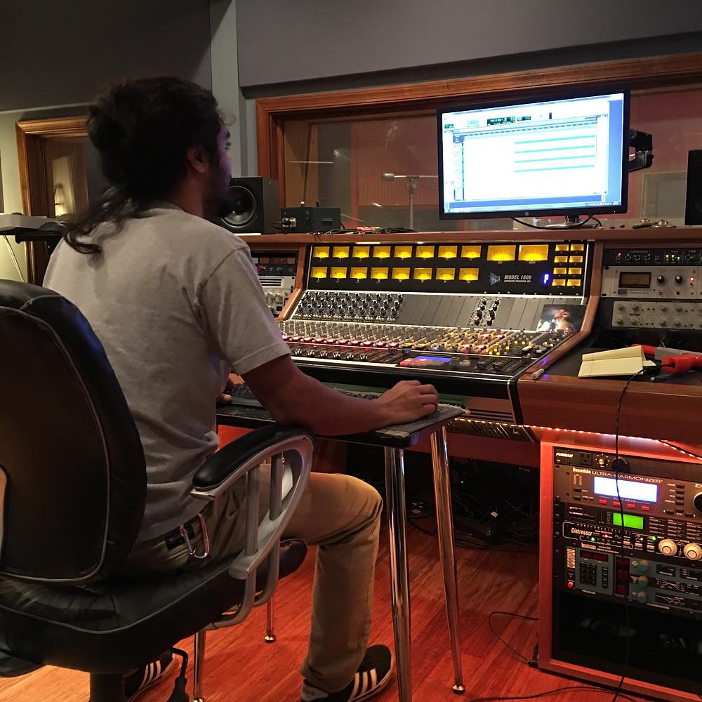 Orion Faruque engineering at Virginia Arts Recording