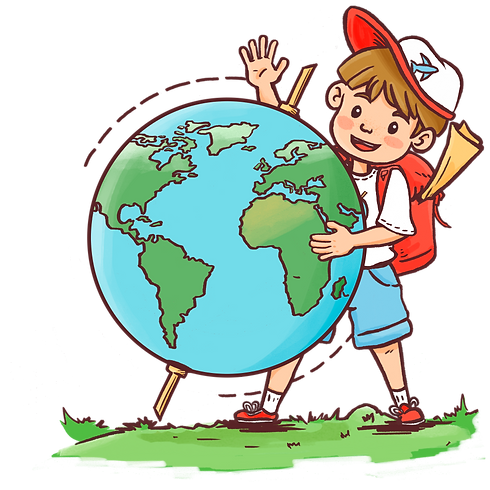 Wally and Globe Transparent.png