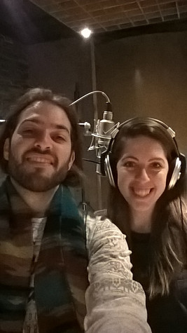 Album studio recording with my sister Marianna on narration