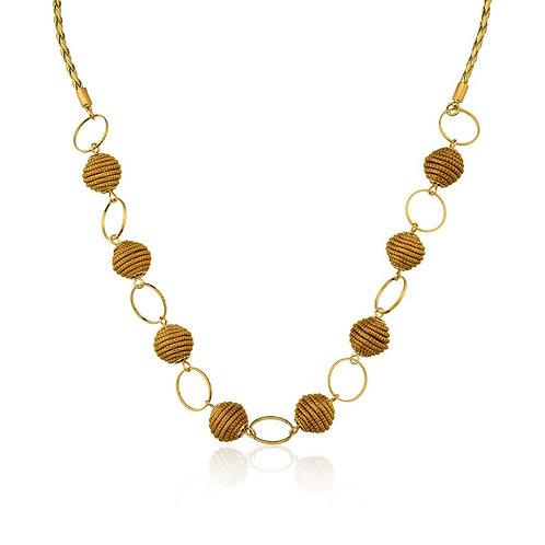 Golden Grass Ball Necklace