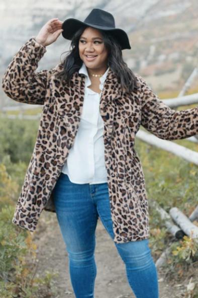 Lindsay Leopard Coat