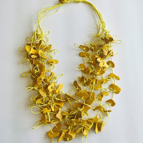 Coconut Necklace, Yellow