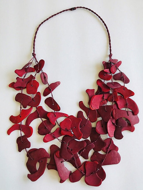 Coconut Necklace, Red