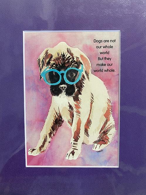 Caricature & Quotes Dog Art