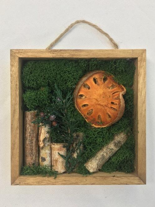 Mini Moss Art with Birch Logs