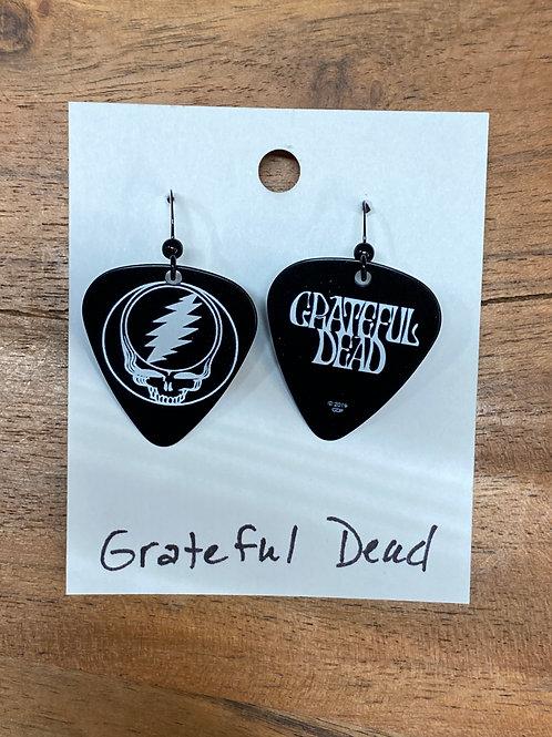 Grateful Dead Guitar Pick Earrings