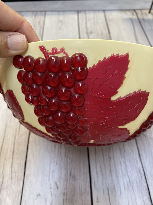 Vintage Red Grape Bowl