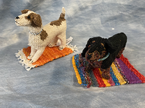 Hand Knitted Dogs