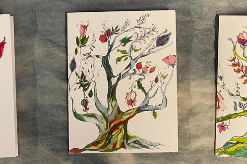 Gypsy Gardener Tree Cards, pack of 9