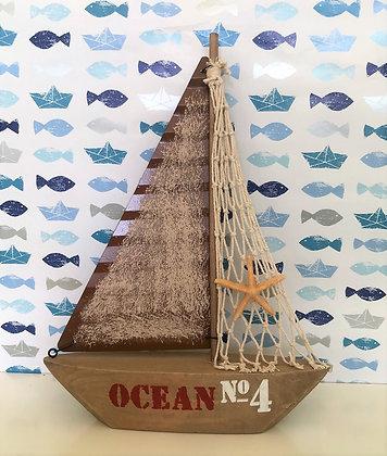 Segelschiff mit Netz