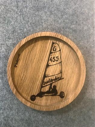 Holzuntersetzer Strandsegler 1