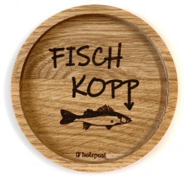 Holzuntersetzer Fischkopp