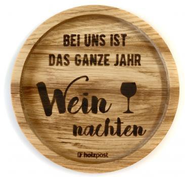 Holzuntersetzer Weinachten