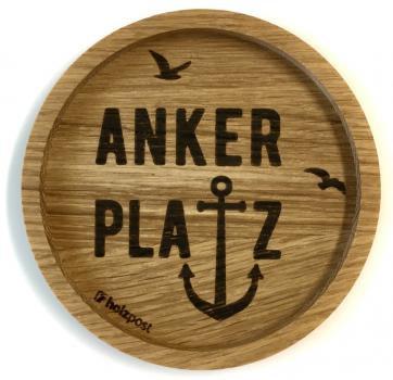 Holzuntersetzer Ankerplatz