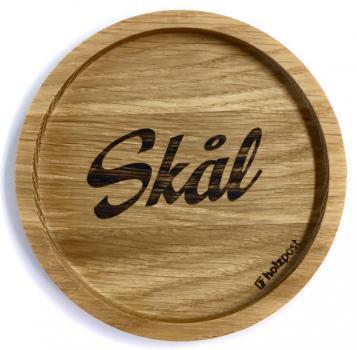 Holzuntersetzer Skal