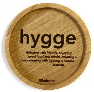Holzuntersetzer Hygge