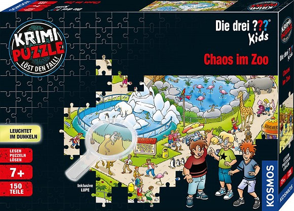 Krimi Puzzle: Die drei ??? Kids - Chaos im Zoo