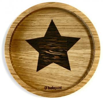 Holzuntersetzer Stern