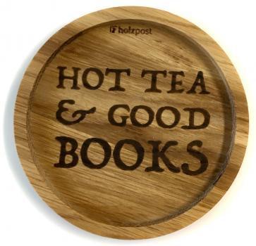 Holzuntersetzer Hot tea