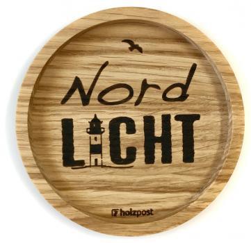 Holzuntersetzer Nordlicht