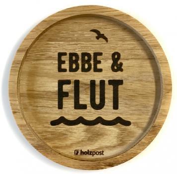 Holzuntersetzer Ebbe & Flut