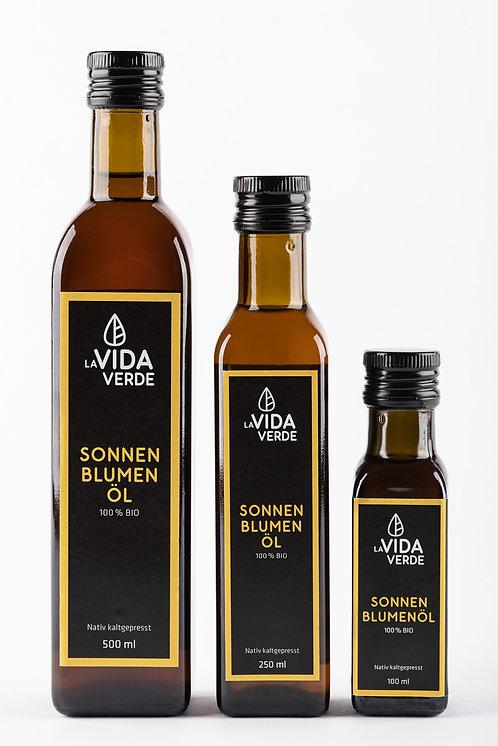 Sonnenblumenöl, Bio-Öl, kaltgepresst, bestes Öl, Speiseöl