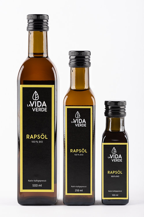 Rapsöl, Bio-Öl, kaltgepresst, La Vida Verde, bestes Öl
